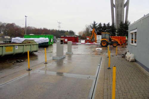 Alphatronics Weegbrug + Bedieningszuil Recyclagepark