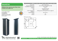SmartLine operating column for access control devices