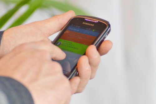 Alphatronics - melding van een verpleegoproep op de smartphone
