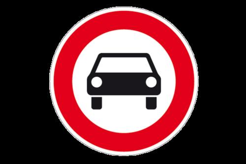 Alphatronics Verkeersbord Verboden Auto's