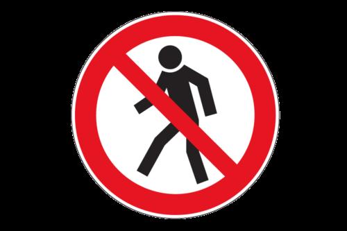 Alphatronics Verkeersbord Verboden Voetgangers